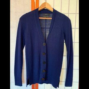 Marino wool cardigan. UNC